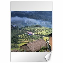 Rock Scenery The H Mong People Home Canvas 12  X 18