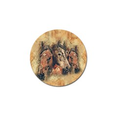 Head Horse Animal Vintage Golf Ball Marker (10 Pack) by Sudhe
