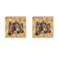 Head Horse Animal Vintage Cufflinks (square)