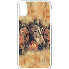 Head Horse Animal Vintage Iphone Xs Seamless Case (white)