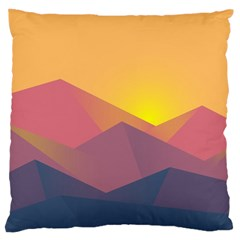 Image Sunset Landscape Graphics Large Cushion Case (two Sides)
