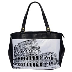 Line Art Architecture Oversize Office Handbag