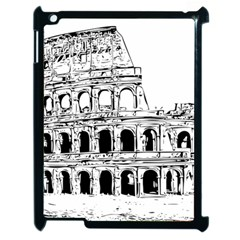 Line Art Architecture Apple Ipad 2 Case (black)