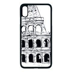 Line Art Architecture Iphone Xs Max Seamless Case (black)