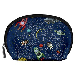 Cat Cosmos Cosmonaut Rocket Accessory Pouch (large)