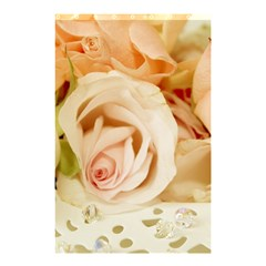 Roses Plate Romantic Blossom Bloom Shower Curtain 48  X 72  (small)