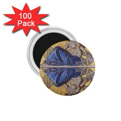 Mosaic Painting Glass Decoration 1 75  Magnets (100 Pack)