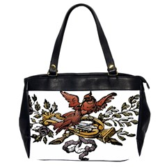 Transparent Background Bird Oversize Office Handbag (2 Sides)