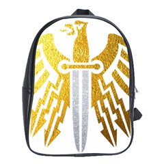 Knife Revenge Emblem Bird Eagle School Bag (xl)
