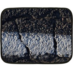 Asphalt Road  Double Sided Fleece Blanket (mini)