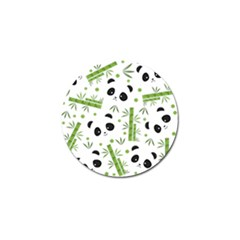 Giant Panda Bear Bamboo Icon Green Bamboo Golf Ball Marker (10 Pack) by Sudhe