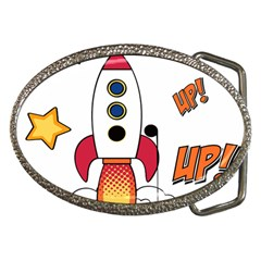 Rocket Cartoon Belt Buckles by Sudhe