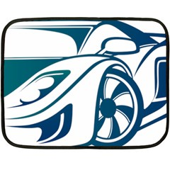 Blue Vector Car Double Sided Fleece Blanket (mini)