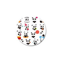 Giant Panda Bear Cuteness Golf Ball Marker (10 Pack) by Sudhe