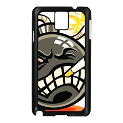 Smoking Cartoon Evil Bomb Cartoon Samsung Galaxy Note 3 N9005 Case (black)