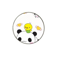 Giant Panda Red Panda Cartoon Drawing Hat Clip Ball Marker (4 Pack) by Sudhe