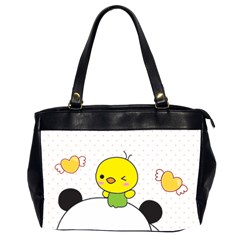 Giant Panda Red Panda Cartoon Drawing Oversize Office Handbag (2 Sides)