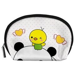 Giant Panda Red Panda Cartoon Drawing Accessory Pouch (large)