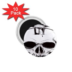 Skull Knife Euclidean Vector Skull Sword Inserted 1 75  Magnets (10 Pack)  by Sudhe