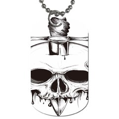 Skull Knife Euclidean Vector Skull Sword Inserted Dog Tag (two Sides)