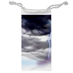 Thunder And Lightning Weather Clouds Painted Cartoon Jewelry Bag