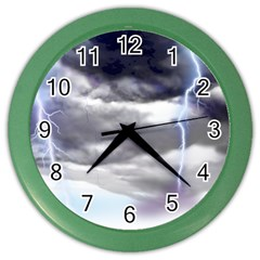Thunder And Lightning Weather Clouds Painted Cartoon Color Wall Clock