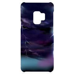 Thunder And Lightning Weather Clouds Painted Cartoon Samsung S9 Frosting Case