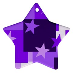 Purple Stars Pattern Shape Ornament (star)