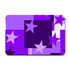 Purple Stars Pattern Shape Small Doormat