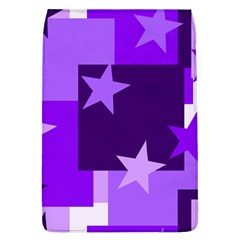 Purple Stars Pattern Shape Removable Flap Cover (l)