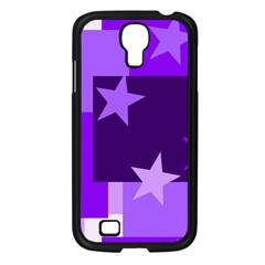 Purple Stars Pattern Shape Samsung Galaxy S4 I9500/ I9505 Case (black)