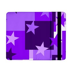 Purple Stars Pattern Shape Samsung Galaxy Tab Pro 8 4  Flip Case by Alisyart