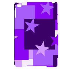 Purple Stars Pattern Shape Apple Ipad Mini 4 Black Frosting Case by Alisyart