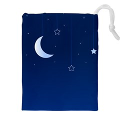 Night Moon Star Background Drawstring Pouch (xxl) by Jojostore
