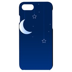 Night Moon Star Background Iphone 7/8 Black Frosting Case