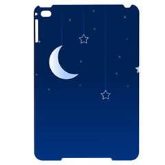 Night Moon Star Background Apple Ipad Mini 4 Black Frosting Case by Jojostore