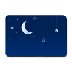 Night Moon Star Background Small Doormat