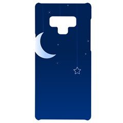 Night Moon Star Background Samsung Note 9 Frosting Case