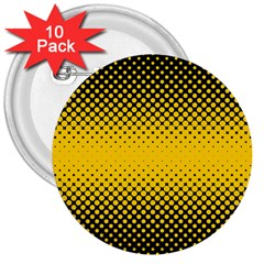 Dot Halftone Pattern Vector 3  Buttons (10 Pack)