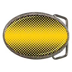 Dot Halftone Pattern Vector Belt Buckles