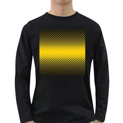 Dot Halftone Pattern Vector Long Sleeve Dark T Shirt
