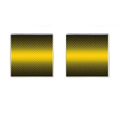 Dot Halftone Pattern Vector Cufflinks (square) by Mariart