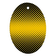 Dot Halftone Pattern Vector Oval Ornament (two Sides)