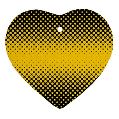 Dot Halftone Pattern Vector Heart Ornament (two Sides)