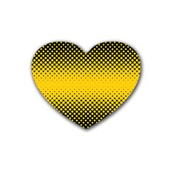 Dot Halftone Pattern Vector Heart Coaster (4 Pack)