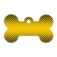 Dot Halftone Pattern Vector Dog Tag Bone (two Sides)