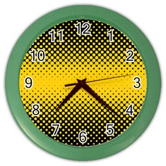Dot Halftone Pattern Vector Color Wall Clock