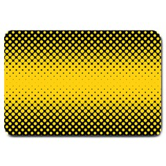Dot Halftone Pattern Vector Large Doormat