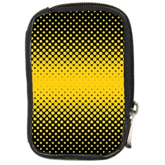 Dot Halftone Pattern Vector Compact Camera Leather Case by Mariart