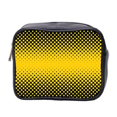Dot Halftone Pattern Vector Mini Toiletries Bag (two Sides)